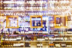 Blurred wine cellar Stock Photos