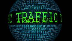 Web traffic spinning globe Stock Footage