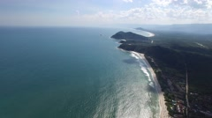 Aerial View of Barra do Una, Brazil Stock Footage