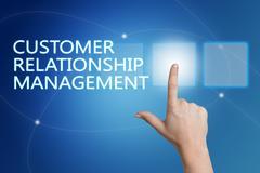 Customer Relationship Management - stock illustration