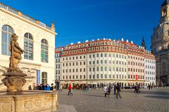 Dresden. Town Hall Square. Stock Photos