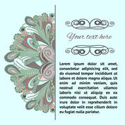 dudle pattern with place for text - stock illustration