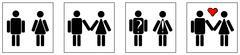 Icons illustrating developing relations Stock Illustration