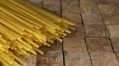Uncooked spaghetti. Stock Footage