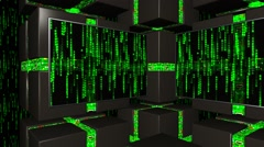 LiteSet34 Angle B Digital Environment with Matrix Numbers Stock Footage