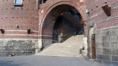 Kärnan, the medieval tower in Helsingborg Stock Footage