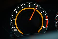 Tachometer car dashboard Stock Photos