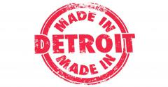 Made in Detroit Stamp Product Pride Manufacturing Animation 4K Stock Footage
