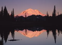 Mount Rainier - Tipsoo Lake, Washington - stock photo