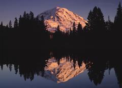 Mount Rainier - Eunice Lake, Washington Stock Photos