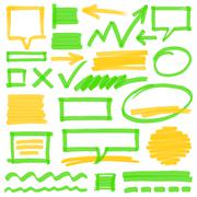 Stock Illustration of Highlighter Marking Design Elements