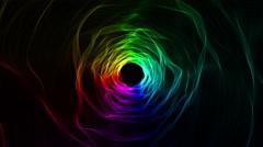 Abstract Rainbow tunel Stock Footage
