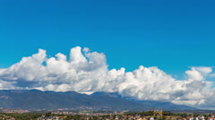 Cumulonimbus formation timelapse over the Montseny Massif, Catalonia - stock footage