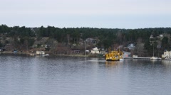 View of island life in Stockholm Archipelago - stock footage