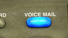 Macro of a phones voice mail light blinking 4k Stock Footage