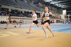 Turkcell Turkish Indoor Athletics Championships Stock Photos