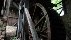 Waterwheel with sound - stock footage