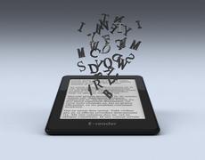 Ebook reader concept Stock Illustration