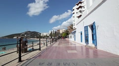 Santa Eulalia. Ibiza. Spain. Balearic sea. - stock footage