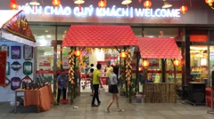 Lotte Mart in Vung Tau city in sothern Vietnam Stock Footage