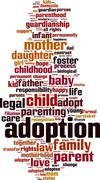 Adoption word cloud Stock Illustration