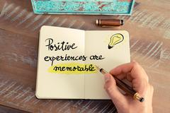 Written text Positive Experiences Are Memorable - stock photo
