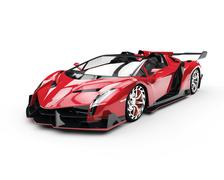 Red Super Racecar - Studio Shot Stock Illustration