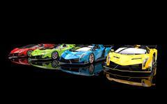 Supercars - base colors - black studio shot Stock Illustration