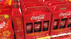 Coca Cola on Tet holiday in Vietnam Stock Footage