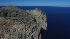 Cape Formentor. Aerial view. Stock Footage