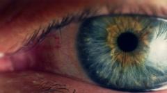 Close up human eye iris - stock footage