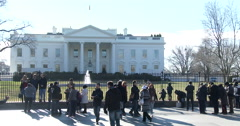 Tourists visiting Washington DC and the White House 4k Stock Footage