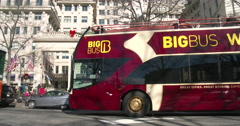 Big Bus Washington DC Tours in downtown of city 4k Stock Footage