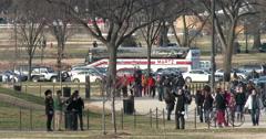 People touring through Washington DC 4k Stock Footage