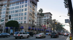 Beverly Wilshire Hotel Establishing Shot  	 Stock Footage
