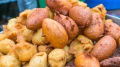 Delicious street food in dhaka, Bangladesh. Stock Footage