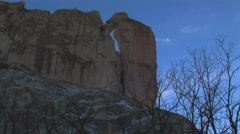 Woodpecker rock natural arch Stock Footage