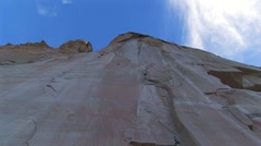 Inscription rock Cliff NM - stock footage