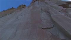 Inscription rock El Morro Stock Footage