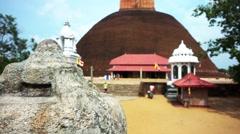 Anuradhapura ruin, first capital city of Sri Lanka. - stock footage