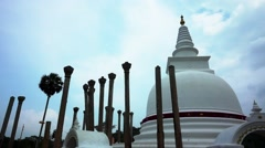 Anuradhapura ruin, first capital city of Sri Lanka. Stock Footage