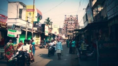 Street in India Stock Footage