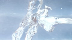 Snowflake formation,Water cemented Snow Stock Footage