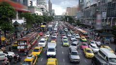 Bangkok city traffic Stock Footage