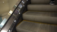 escalator in building - stock footage