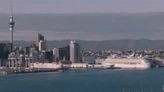 Auckland City Skyline, New Zealand Stock Footage