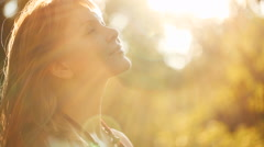 Portrait of a Woman at Sunset Stock Footage