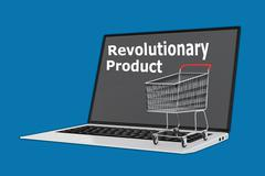 Revolutionary Product concept - stock illustration