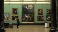 London England National Gallery of Art displays 4K Stock Footage