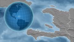 Haiti and Globe. Bumps Stock Footage